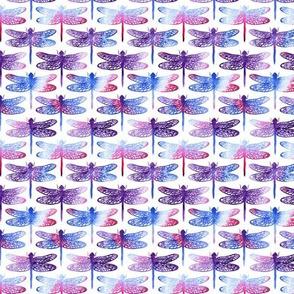 Watercolour dragonflies - purple