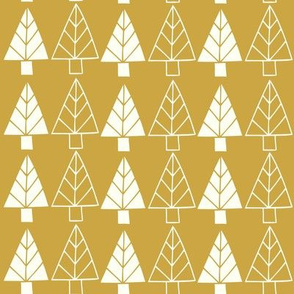 Christmas Trees in gold