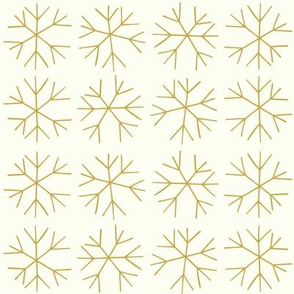 Christmas Snowflakes in gold
