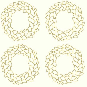 Christmas Wreaths in gold