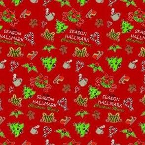 Christmas hallmark fabric pattern