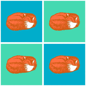 Sleeping Fox - Orange Fox Variation (Large 12 inch size)
