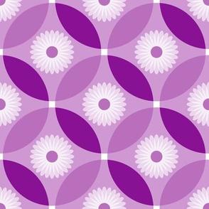 Plum Purple Flower Circle Lock Pattern