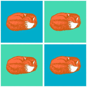 Sleeping Fox - Orange Fox Variation (Medium 6 inch size)