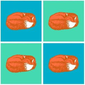 Sleeping Fox - Orange Fox Variation (Small 3 inch size)