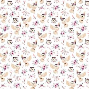 Bohoo Owl - White - TINY