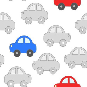 Cars Vehicles Transportation Blue Red Gray