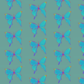 butterflies (faded jade neon)