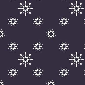 Snowflakes on Blueberry