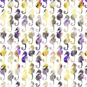 Seahorse - yellow and purple