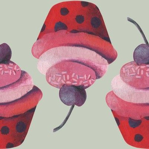 Cup Cakes on Greige