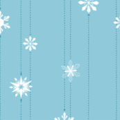 Light Blue Snowflake Chain | LARGE
