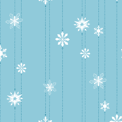 Light Blue Snowflake Chain
