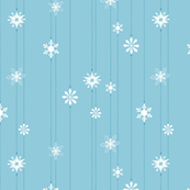 Light Blue Snowflake Chain | SMALL