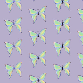 butterflies (pastel green)