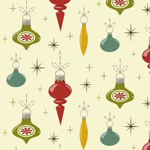 Retro Ornaments-Cream