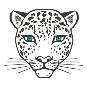 Leopard Pillow Plush Plushie Softie Cut & Sew