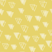 Birthday - Triangles - Yellow