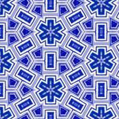 hand painted blue iznik tiles