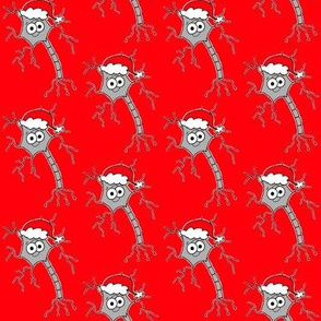 Christmas Neuron - on red