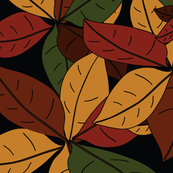 Autumn Leaves Pattern Seamless Background
