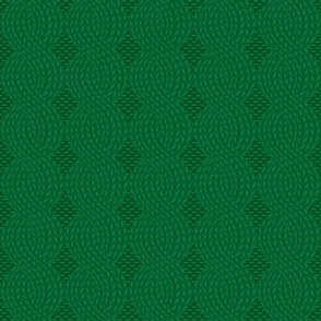 cable knit green (large scale)