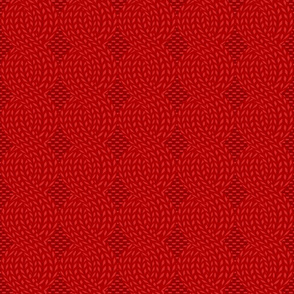 cable knit red