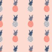 Peach and Indigo Pineapples