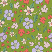 Green Gold Floral