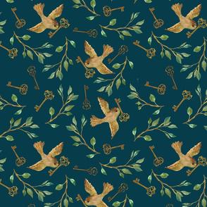 Birds and Keys {Night} - medium