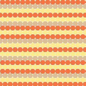Candy Corn rainbow dots
