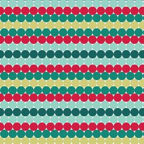 Mint Rainbow Dots