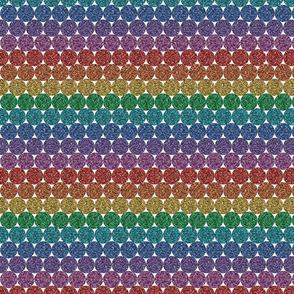 Rainbow Glitter dots