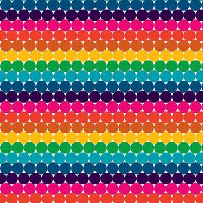 Contemporary Rainbow Dots