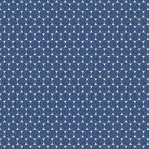 Navy Glitter Dots