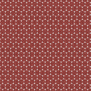 Dark Red Glitter Dots