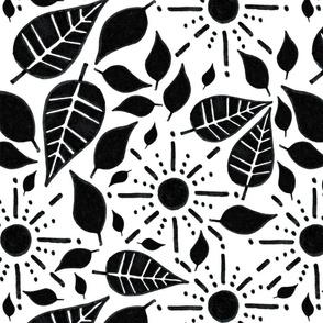 Leaf & Sun pattern