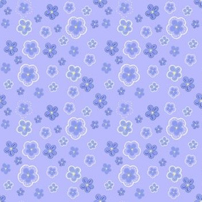 Forget me nots in periwinkle