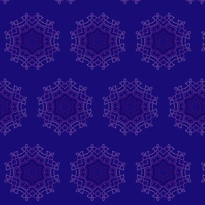 mandala flower  dark purple