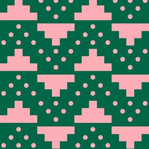 Blocks in Green and Pink