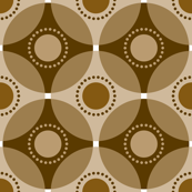 Circle Lock Pattern - Coffee Brown - V2