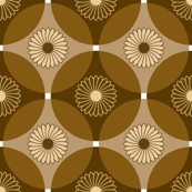 Circle Lock Flowers - Coffee Brown