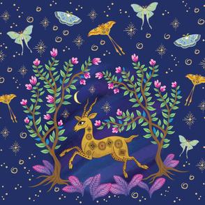 The Fantastical Golden Deer-Extra Large