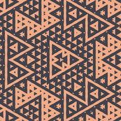 Geometric Ebony Peach