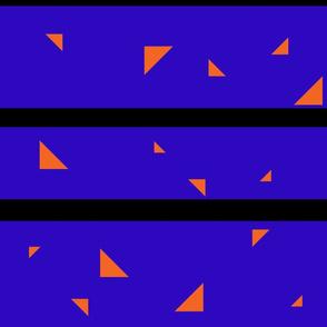 Dark Blue and orange triangles Jumbo