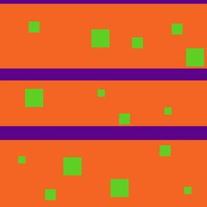 Orange and green squares Purple stripes Jumbo