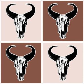 Western Desert Bull Skulls (Medium 6 Inch Size)