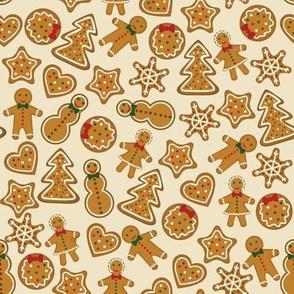 Gingerbread on beige