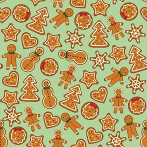 Gingerbread on green