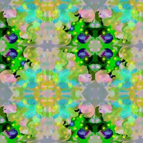 Abstract Flower Kaleidoscope - Blue Pink Green